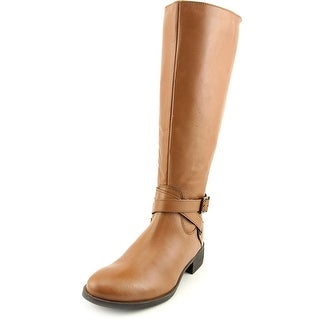 Matisse Destry Wide Calf Women W Round Toe Leather Tan Knee High Boot