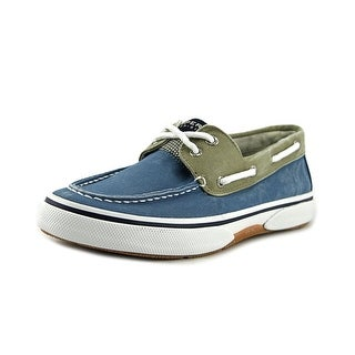 Sperry Top Sider Halyard Men Moc Toe Canvas Boat Shoe