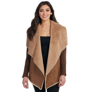Cripple Creek Western Jacket Womens Ribbed Shearling Trim CR13667