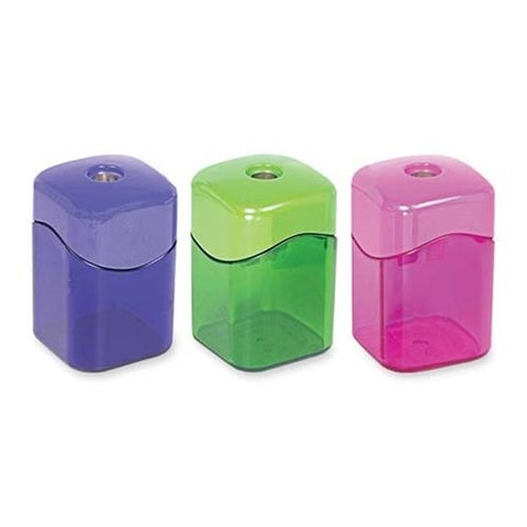Pencil Sharpeners Wave Single Hole Hexagonal Tub Display of 15