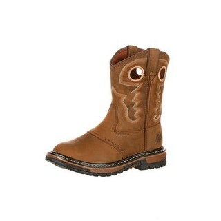 Rocky Western Boots Boys Original Ride Round Toe Brown