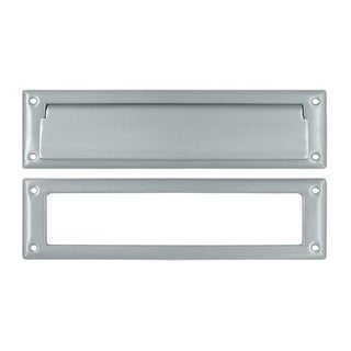 13.12 in. Mail Slot with Interior Frame #44; Satin Chrome -