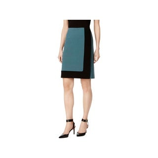 Nine West Womens A-Line Skirt Two-Tone Bi-Stretch