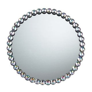 Sterling Industries 51-10018 Round Wall Mirror with Jewel Rim