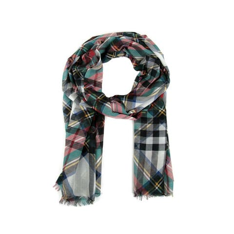Burberry Women's Natural White Stewart Gauze Giant Checkered Scarf 40699741 - One Size