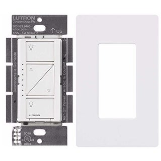 Lutron PD-10NXD-WH Caseta Pro In Wall Dimmer 250W LED with Screw Less Wall Plate - White