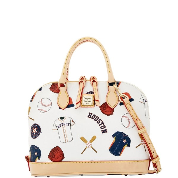 Dooney & Bourke MLB Astros Zip Zip Satchel (Introduced by Dooney & Bourke at $248 in Jan 2015) - White