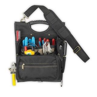 CLC 1509 Zippered Professional Electrician's Tool Pouch, 21 Pockets
