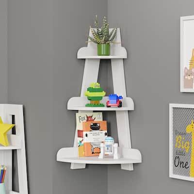 Kids Corner Ladder Wall Shelf