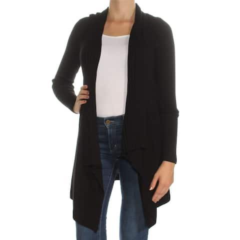 INC $70 Womens New 1285 Black Long Sleeve Handkerchief Sweater XS