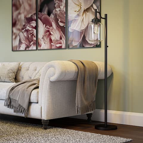 Carbon Loft Bronze Mangano Floor Lamp