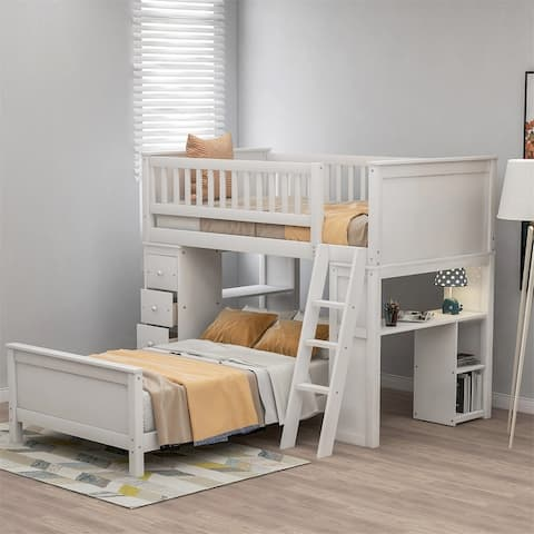 Taylor & Olive Freesia Twin-over-Twin Bed with Storage