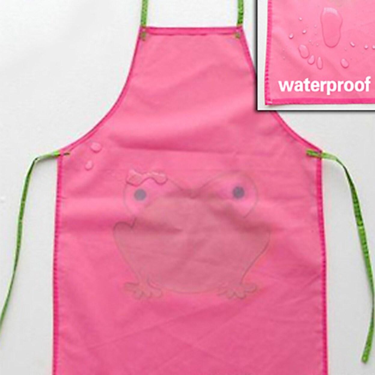 Kids Children Cute Waterproof Cartoon Frog Printed Painting Cooking Apron Overstock 33106098