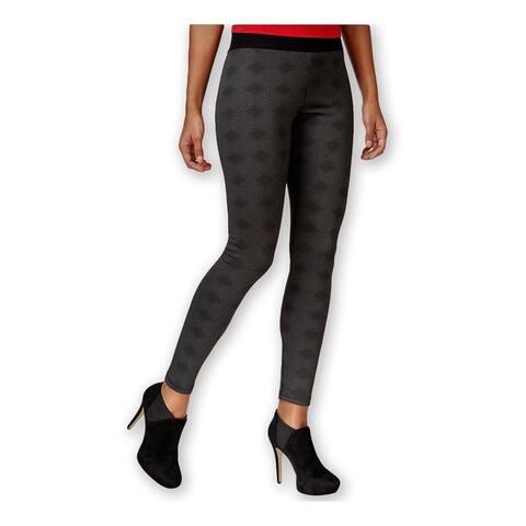 HUE Womens Optical Print Casual Leggings, black, Small