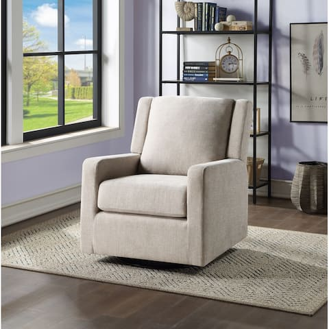 Ovis Clara Nursery Swivel Glider Chair with Padded Back Support