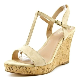 Charles By Charles David Libra Women Open Toe Suede Wedge Sandal