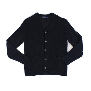 Polo Ralph Lauren NEW Blue Mens Size Large L Knitted Cardigan Sweater