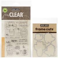 Hero Arts Clear Stamp & Die Combo-Cactus Animal
