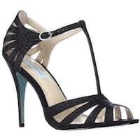 Blue by Betsey Johnson Tee Dress Sandals, Black Glitter