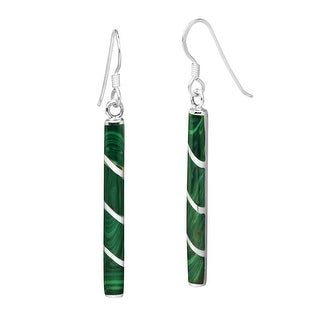 Link to Handmade Classy and Modern Sterling Silver Tube Stone Dangle Earrings (Thailand) Similar Items in Earrings