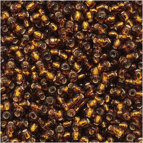 Toho Round Seed Beads 11/0 34 'Silver Lined Smoky Topaz' 8 Gram Tube