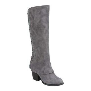 Fergalicious Women's Tinley Knee High Boot Denim Oiled Fabric
