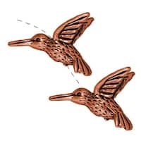 TierraCast Copper Plated Pewter Hummingbird Beads 13mm (2)