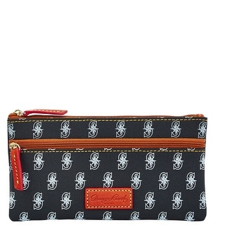 Dooney & Bourke MLB Mariners Double Zip Flat Pouch (Introduced by Dooney & Bourke at $85 in Oct 2015) - Black