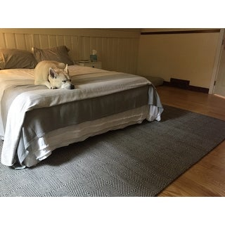nuLOOM Handmade Concentric Diamond Trellis Wool/Cotton Rug