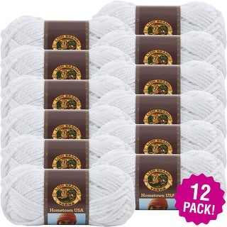 Lion Brand Hometown Usa Yarn 12/Pk-New York White