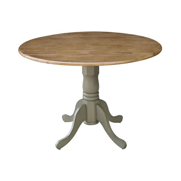 Round 42 Inch Drop Leaf Table On Sale Overstock 4393081