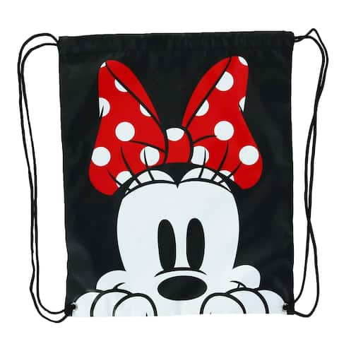 Disney Minnie Mouse Face Drawstring Bag Backpack - one size