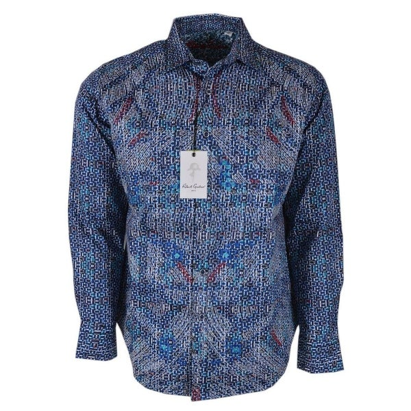 fe75786eca9 Shop Robert Graham CARILLION Abstract Embroidered Button Down Sport ...
