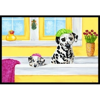 Carolines Treasures AMB1099MAT Bath Day Dalmatian Indoor or Outdoor Mat 18 x 27