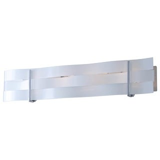 DVI Lighting DVP15744 Tides 4 Light Bathroom Vanity Light - chrome/graphite/silk screened white