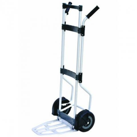 Milwaukee 33898 Aluminum Fold-Up Hand Truck w/Collapsible Twin Handles, 500 Lb