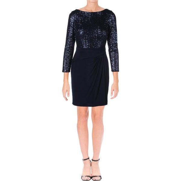 d321a1a0 Shop Lauren Ralph Lauren Womens Petites Cocktail Dress Sequined Long ...