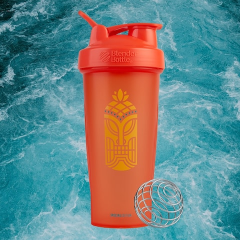 Blender Bottle Special Edition 28 oz Shaker Mixer Cup with Loop Top - Tiki - 28 oz.