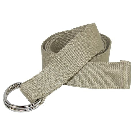 CTM® Canvas Web Belt with D Ring Buckle - one size