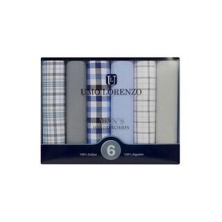 Men's 6 PC Boxed Fancy Cotton Handkerchiefs MFB1526