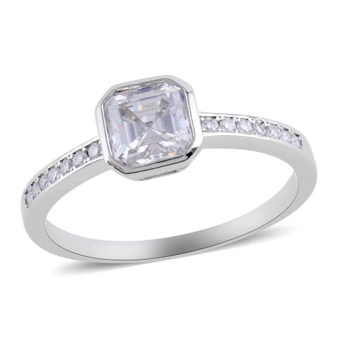 Shop LC 925 Sterling Silver Moissanite Engagement Ring Ct 1.3