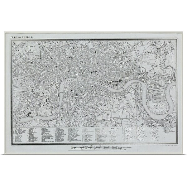 Map Of England Poster.Shop Poster Print Entitled Map Of London England Multi Color