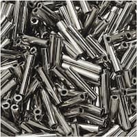 Toho Bugle Tube Beads Size 3 2x9mm Nickel 10 Grams