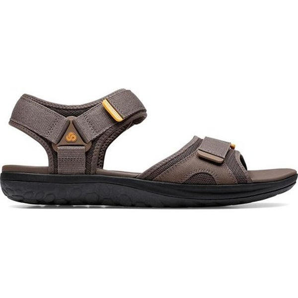 fc36f7e57384 Shop Clarks Men s Step Beat Sun Sport Sandal Brown Textile - On Sale - Free  Shipping Today - Overstock - 27346938