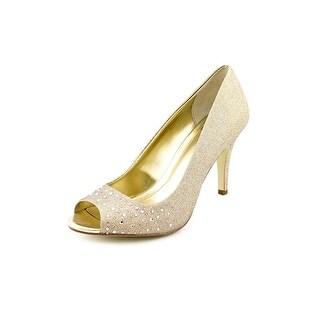 Style & Co Monaee Women Peep-Toe Synthetic Bronze Heels