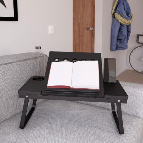 COSCO Folding Lap Activity Tray with Molded Cup & Electronic Device Holder
