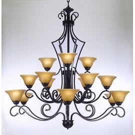 Large Entryway/Foyer Wrought Iron Chandelier Lighting H51 x W49