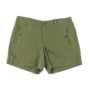 Lauren Ralph Lauren Womens Striped Slit Pockets Casual Shorts - 12