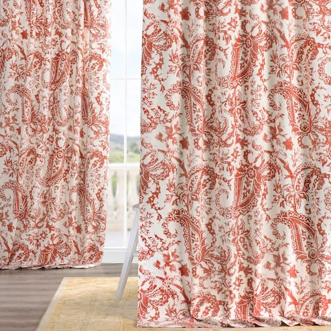 Exclusive Fabrics Edina Washed Printed Cotton Single Curtain Panel