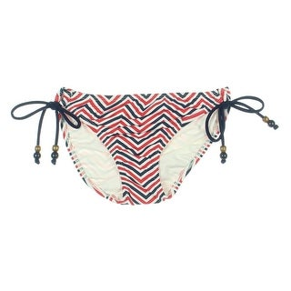 Shoshanna Womens Petites Striped Bikini Swim Bottom Separates - p